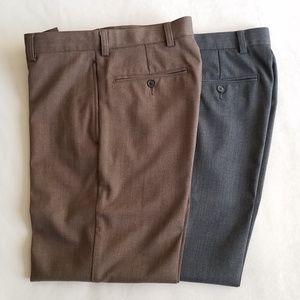 J.Crew Men's Classic Fit Dress Pant Pair